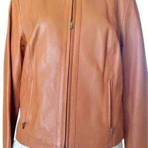Cole Haan Chestnut Best Selling Racer Leather Jack